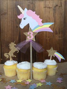 Magical Unicorn Birthday CAKE TOPPER Unicorn by papermeblossom