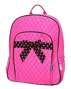 698c3c246aac Belvah Womens and Childrens Quilted Solid School Backpack FuchsiaBlack    This is an Amazon Affiliate link