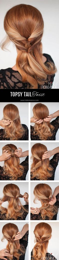 Hair Romance - topsy tail twist hairstyle tutorial