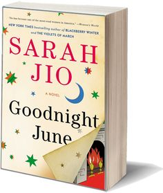 Goodnight June by Sarah Jio. Through a series of letters between a famous children's author and her beloved aunt, June discovers her true self and transforms her life while bringing a community together to save a children's bookstore.
