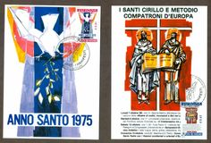 Vatican City Sc# 1239-40: Europa 2003 - The Posters, 2 Maxi Cards | eBay