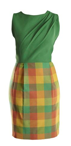 Green check dress available on www.floralraffia.com
