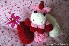 Little Yarn Friends • Crochet Pattern: Lil' Baby Unicorn