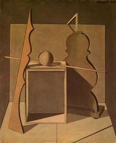 Métaphysique Nature morte avec Triangle, 1919 - Giorgio Morandi