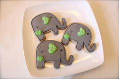 Elephant Cookie (1 dozen) on Etsy, $36.00