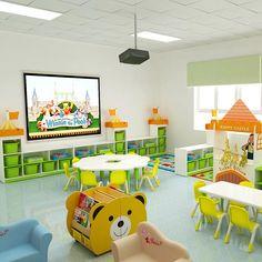 Preschool Classroom Layout, Classroom Decor, Micro Creche, Daycare Design, Diy Wooden Projects, Preschool Furniture, Kindergarten Design, Girl Bedroom Designs, School Items