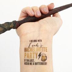 15 Custom Bachelorette Party Temporary Tattoos by LoveAndLion