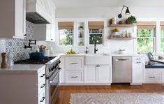 North Park Farmhouse Kitchen - Farmhouse - Kitchen - San Diego - by Hope Pinc Design Small Kitchen Redo, Kitchen Sink Design, Kitchen Dining, Dining Room, Craftsman Farmhouse, Craftsman Kitchen, Farmhouse Style, Modern Farmhouse, San Diego