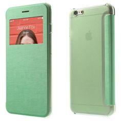 Köp Fodral Apple iPhone 6 Plus/6S Plus window view grön online: http://www.phonelife.se/fodral-apple-iphone-6-plus-window-view-gron