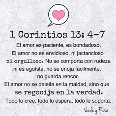 Corintios    El amor...