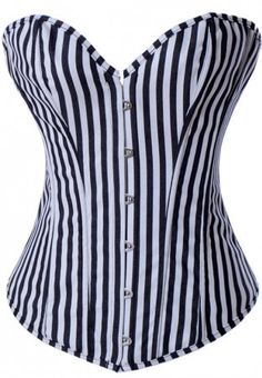 Quality Sexy Vertical Stripes Denim Overbust Corset Bustier Tops 3 Colors Women Boned Corsets Lingerie with free worldwide shipping on AliExpress Mobile Top Bustier, Corset Bustier, Denim Corset, Sexy Corset, Overbust Corset, Corset Underwear, Corset Tops, Color Stripes, Black Stripes