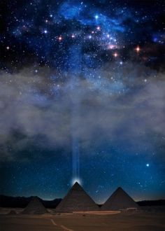 space night sky moon moonlight dark nightsky nightfall midnight galaxy universe earth egypt pyramids giza ancient light clouds constellation stars atmosphere