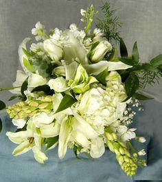 White Wedding Bouquet  Gordon Florist Baltimore White Wedding Bouquets, Wedding Flowers, Baltimore, Special Day, Floral Wreath, Wreaths, Home Decor, Homemade Home Decor, Door Wreaths