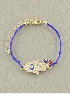 Hamsa Hand & Evil Eye Bracelet from P.S. I Love You More Boutique. shop online at: psiloveyoumore.storenvy.com