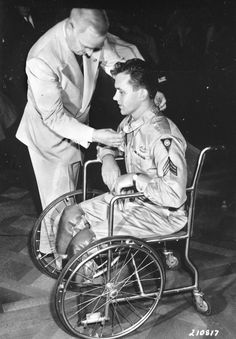 Image result for war medal on american soldier in wheelchair
