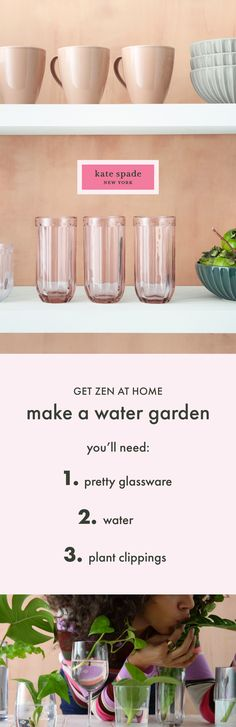 4 ways to get zen at home and the pretty, everyday things for getting started. Things To Do At Home, Diy Craft Projects, Crafts, Clipboards, Patio Plants, Home Office Decor, Home Decor, Aesthetic Makeup, Water Garden