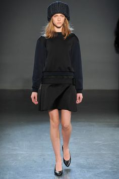 Victoria by Victoria Beckham available instore and Online - Sweatshirt and skirt all in one dress