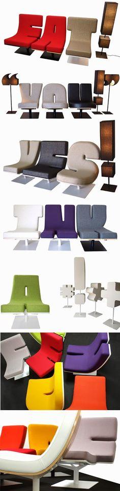 Typographic Furniture | techlovedesign.com