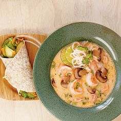 Homemade Curried Coconut Soup lets you bring home the flavors of your favorite Thai coconut soup without ever leaving your kitchen. Our verion is made with fresh shrimp.