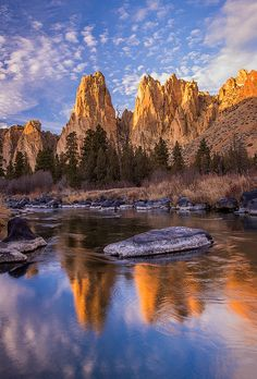 Reflections - Smith Rock State Park, Oregon. Exploring this area would be a fun state park adventure.