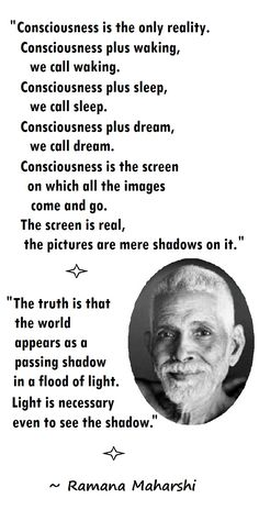 "Quotes from Ramana Maharshi, from ""Be As You Are; The Teachings of Sri Ramana Maharshi"", edited by David Godman Spiritual Awakening Quotes, Spiritual Guidance, Spiritual Wisdom, Top Quotes, Life Quotes, Advaita Vedanta, Ramana Maharshi, Well Said Quotes, Self Realization"
