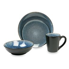 Gorgeous!  Now I just gotta learn how to cook!    Simplicity Blue 16-Piece Dinnerware Set  $70.00