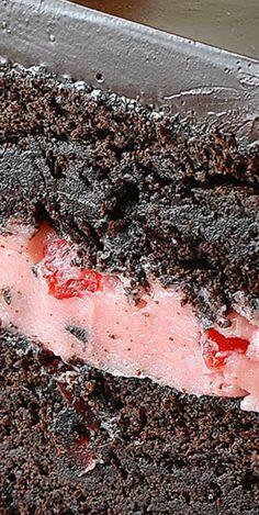Old Fashioned Chocolate Maraschino Cherry Cake