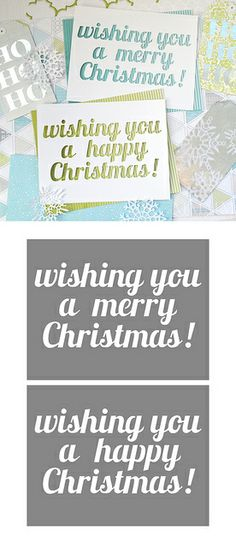 Merry Happy Christmas - free cut files (.studio & .svg formats) #Silhouette #CutFile