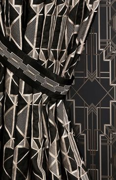 Agatha O | The Great Gatsby Academy Award winning production and costume designer Catherine Martin http://houseofdesign.net.au/stylish/upholstery-drapery-wallpaper-metropolis-collection-from-james-dunlop-textiles/