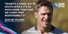 #RSAvSAM #RWC2015 #homegroundadvantage Jean de Villiers