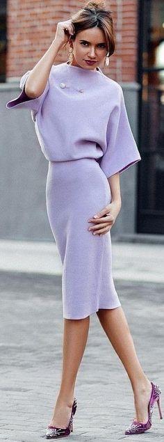 #summer #chic #feminine #style | Midi Purple Dress
