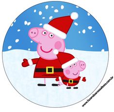Latinhas e Tubetes Peppa Pig Natal