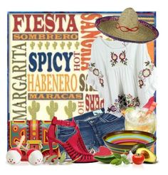 """Fiesta"" by doozer ❤ liked on Polyvore featuring мода, Paula Cademartori, Siwy и Caleb Siemon"