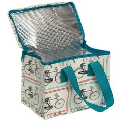 Bicycle Rider's Design Recycled Lunch Bag - Natural Collection Select