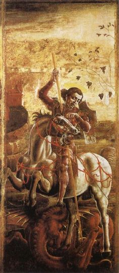 St, George and the Dragon, c. 1470 by Cosimo Tura