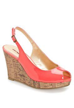 patent peep toe wedge.