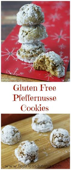 Gluten Free Pfeffernusse Cookies http://www.fearlessdining.com