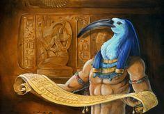 Dios Thot,el dios de la sabiduria egipcio