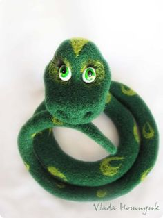 Needle Felted Toy  Meet Lucy the Snake by VladaHom on Etsy