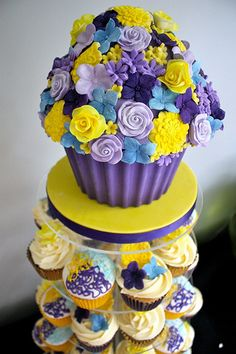 Mad flower cupcake tower | Flickr - Photo Sharing!