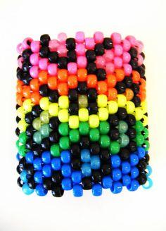 rainbow leopard print kandi cuff