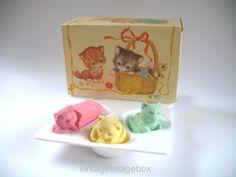 Avon 'Three Kittens Soap Set' (Savons 'Trois Chatons Soap Set') ~ made  in Ireland ~