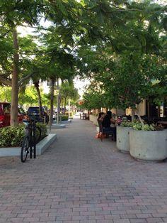 Walk way at Midtown Shops Miami