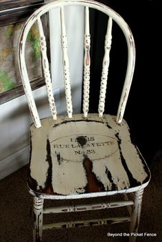 Oui Oui-sweet little chair http://bec4-beyondthepicketfence.blogspot.com/2012/05/oui-oui.html