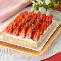 Découvrez la recette Tarte aux fraises à la crème mascarpone sur cuisineactuelle.fr.