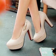 Women's+Shoes+Round+Toe+Chunky+Heel+Pumps+Shoes+More+Colors+available+–+USD+$+47.99