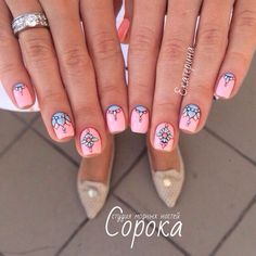 Having short nails is extremely practical. The problem is so many nail art and manicure designs that you'll find online Cute Nail Art, Cute Nails, Pretty Nails, Fabulous Nails, Gorgeous Nails, Nail Manicure, Diy Nails, Gel Nail, Mandala Nails