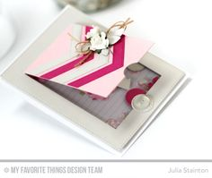 Double Interactive Card with Window Flap and Shaker Card Interior by Julia Stainton featuring MFT Stamps Blueprints 28 Die-namics