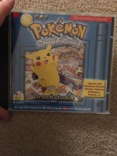 Found a official Pokémon PC game. Printstudio Blue Edition - yes there is also a red edition! (C) 2000 by Mattel