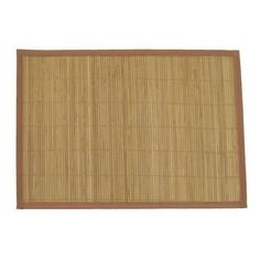 6 Piece Bamboo Place Mat Set - Light Brown by ThinkBamboo - Placemats, http://www.amazon.com/dp/B002V0GRLS/ref=cm_sw_r_pi_dp_OH9Urb0XKRY5W